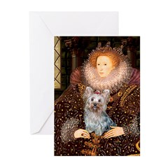The Queen's Yorkie (T) Greeting Cards (Pk of 10)