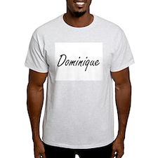 Dominique artistic Name Design T-Shirt