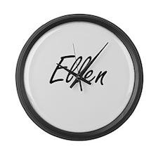 Ellen artistic Name Design Large Wall Clock