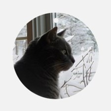 Willy the cat Round Ornament