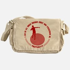 SHOT PUT - PHIL.4:13 Messenger Bag