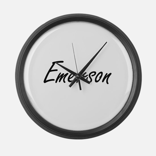 Emerson artistic Name Design Large Wall Clock