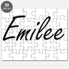 Emilee artistic Name Design Puzzle