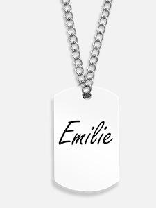 Emilie artistic Name Design Dog Tags