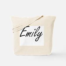 Emily artistic Name Design Tote Bag