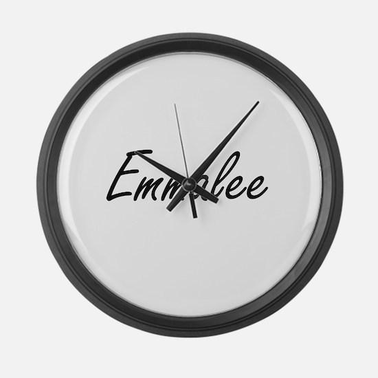 Emmalee artistic Name Design Large Wall Clock