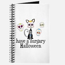 Sugar Skull Cat Journal