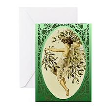 Mistletoe Faerie Greeting Cards (Pk of 20)