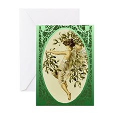 Mistletoe Faerie Greeting Card