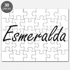Esmeralda artistic Name Design Puzzle