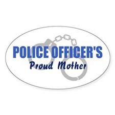 Police Officer's Mother Oval Decal