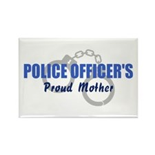 Police Officer's Mother Rectangle Magnet