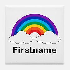 Rainbow (p) Tile Coaster