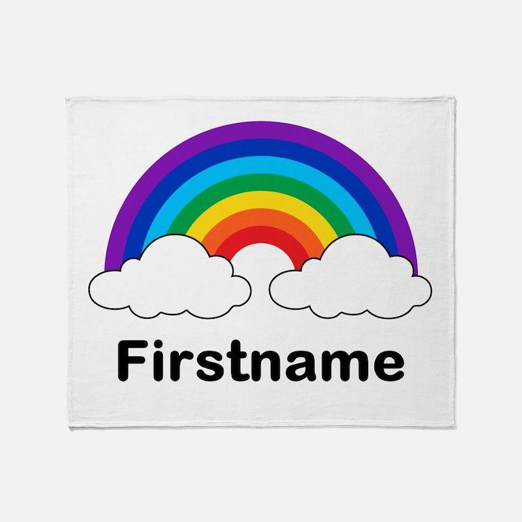 Rainbow (p) Throw Blanket