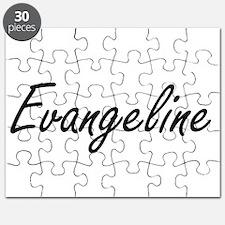 Evangeline artistic Name Design Puzzle