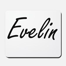 Evelin artistic Name Design Mousepad