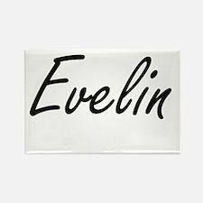 Evelin artistic Name Design Magnets
