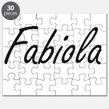 Fabiola artistic Name Design Puzzle