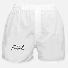 Fabiola artistic Name Design Boxer Shorts