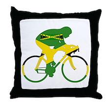 Jamaica Cycling Throw Pillow
