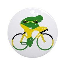 Jamaica Cycling Ornament (Round)