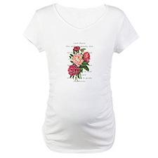 Vintage Peony Flowers Romantic Byron Poem Maternit