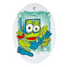 Frogman - Scuba Diver Oval Ornament