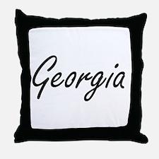 Georgia artistic Name Design Throw Pillow