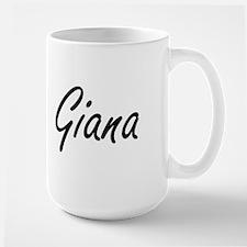 Giana artistic Name Design Mugs