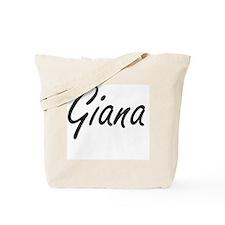 Giana artistic Name Design Tote Bag