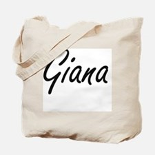 Giana artistic Name Design Tote Bag