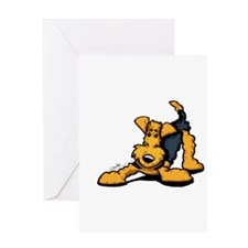 Funny Airedale terrier Greeting Card