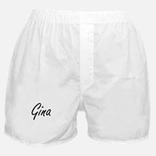 Gina artistic Name Design Boxer Shorts