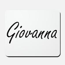 Giovanna artistic Name Design Mousepad
