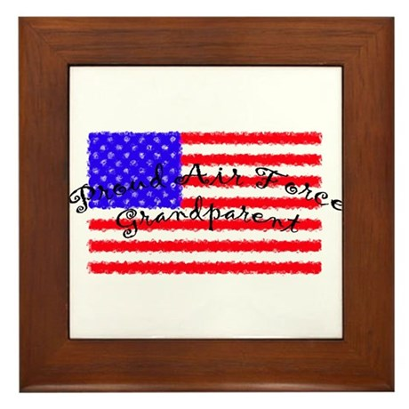 Proud Air Force Grandparent Framed Tile