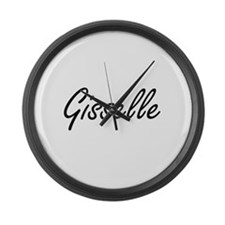 Gisselle artistic Name Design Large Wall Clock