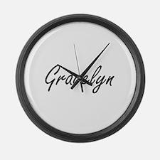 Gracelyn artistic Name Design Large Wall Clock