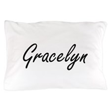 Gracelyn artistic Name Design Pillow Case