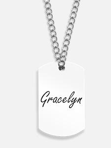 Gracelyn artistic Name Design Dog Tags