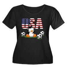 USA Soccer Plus Size T-Shirt