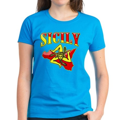 Sicily Sicilian Trinacria Women's Dark T-Shirt