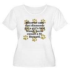 St. Bernards Are A Girls Best Friend Plus Size T-S