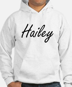 Hailey artistic Name Design Hoodie
