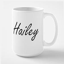 Hailey artistic Name Design Mugs