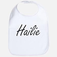 Hailie artistic Name Design Bib