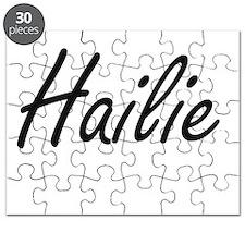 Hailie artistic Name Design Puzzle