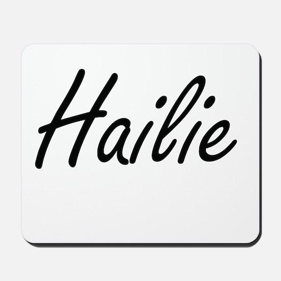 Hailie artistic Name Design Mousepad