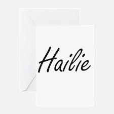 Hailie artistic Name Design Greeting Cards