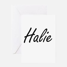 Halie artistic Name Design Greeting Cards