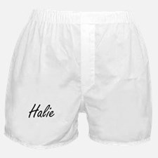 Halie artistic Name Design Boxer Shorts